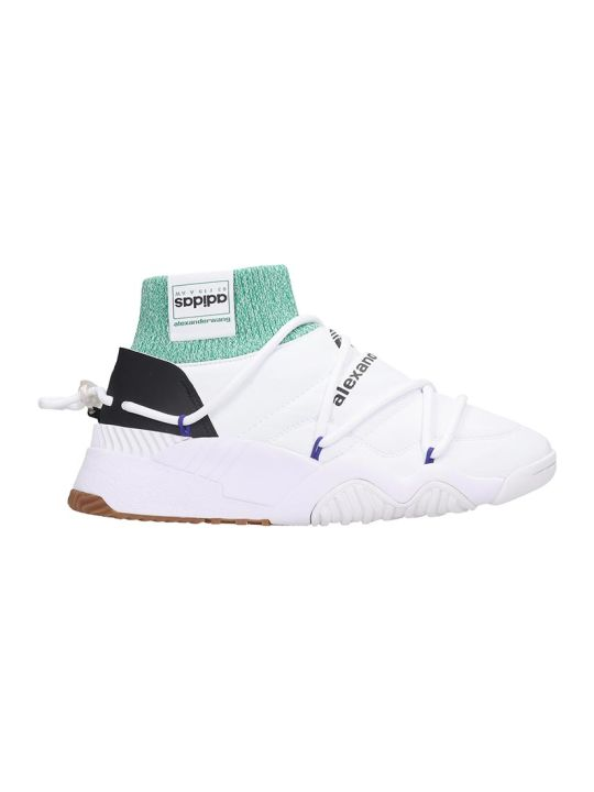 Adidas Originals by Alexander Wang Puff Trainer Sneakers In White Leather