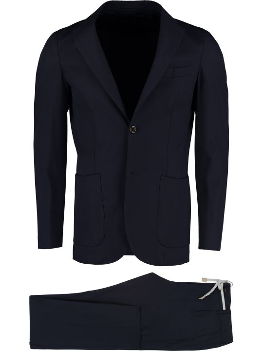 Eleventy Stretch Cotton Two Piece Suit