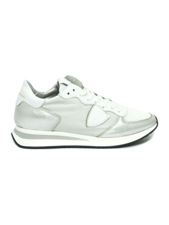 Philippe Model Tropez X Sneaker In White Leather
