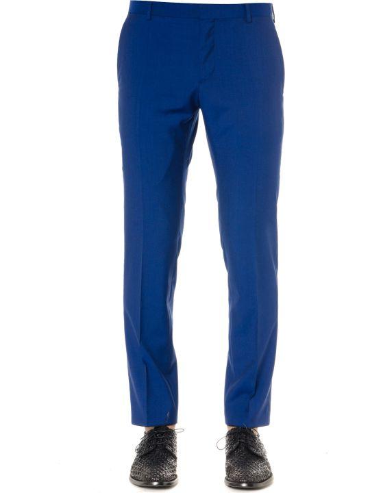 Calvin Klein Blue Virgin Wool Trousers