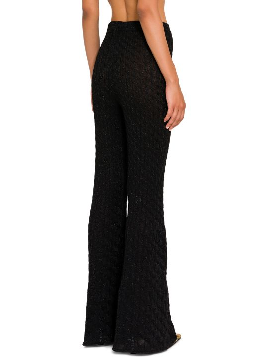 Circus Hotel Lamé Knitted Flared Trousers
