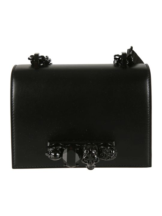 Alexander McQueen Small Jeweled Shoulder Bag