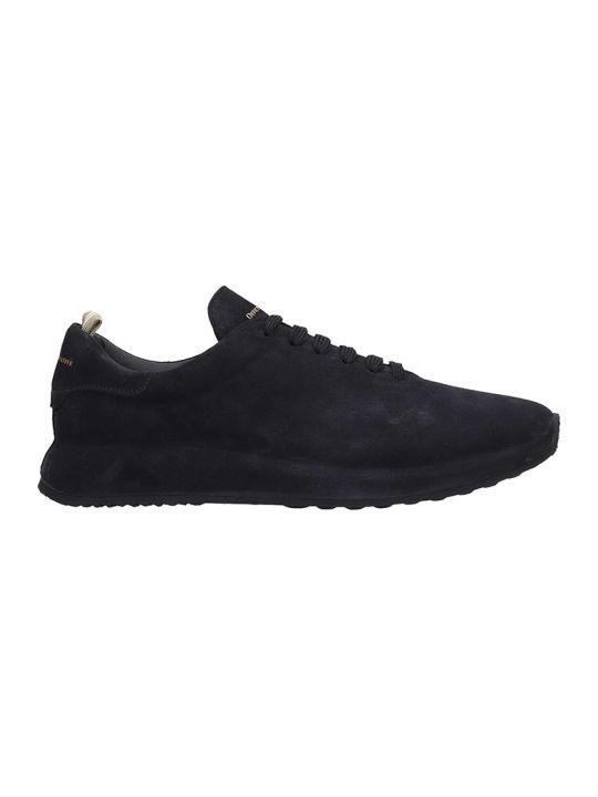 Officine Creative Race Sneakers In Black Suede
