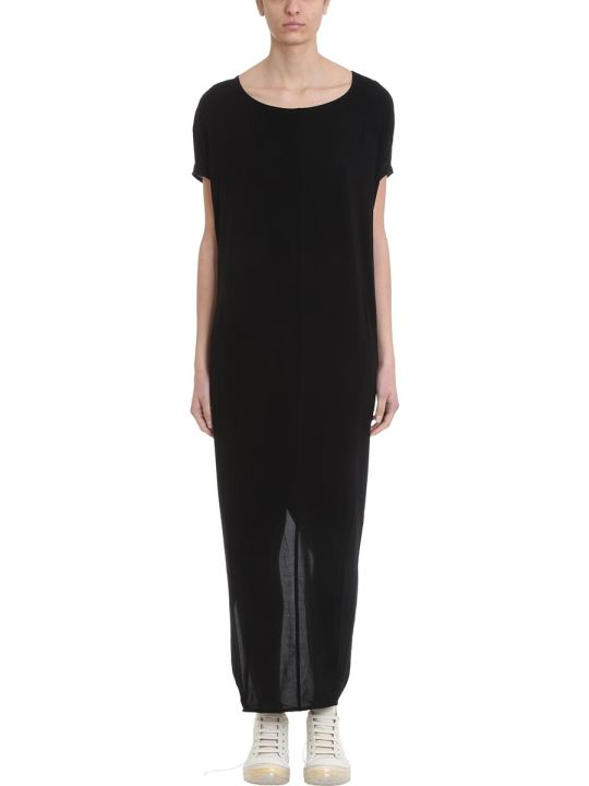 Rick Owens Lilies Gown Black Jersey Dress