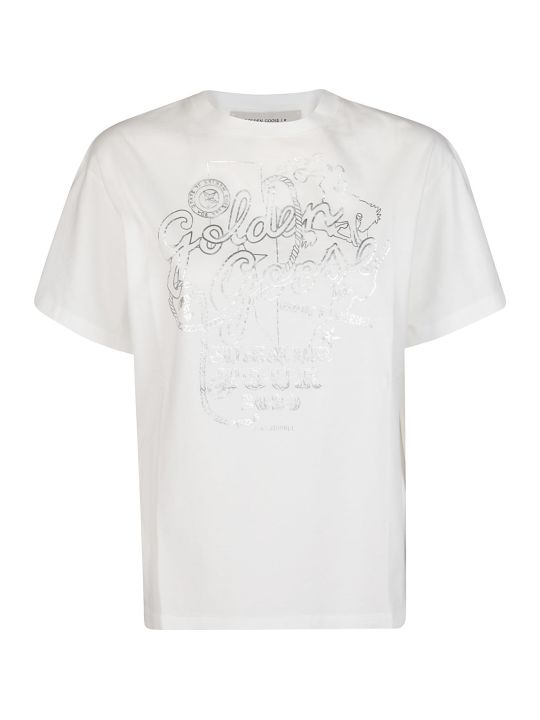 Golden Goose White Cotton T-shirt