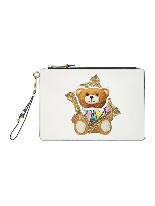 Moschino Frame Teddy Bear Clutch