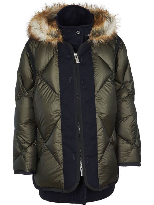 Sacai Fur Hood Down Jacket