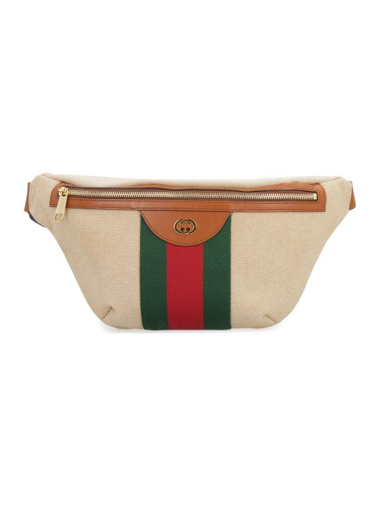 Gucci Canvas And Leather Belt Bag