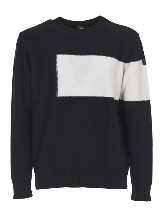 Paul&Shark Blue And White Crewneck Sweater