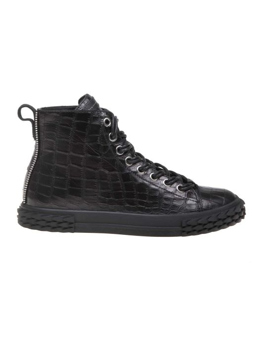 Giuseppe Zanotti Design Sneakers Blabber In Black Leather