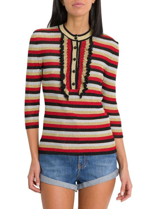 Philosophy di Lorenzo Serafini Striped Top In Lurex