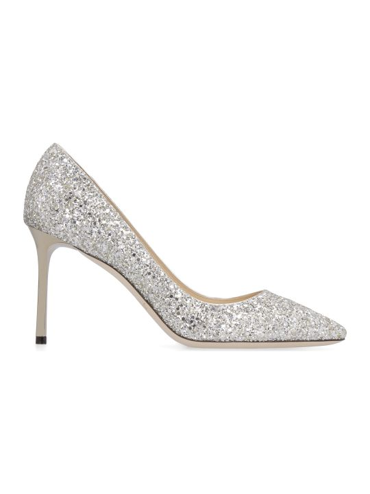 Jimmy Choo Romy Glittered Pointed Pumps