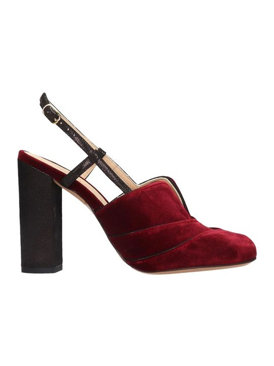Chie Mihara Do-darlin Sandals In Bordeaux Velvet