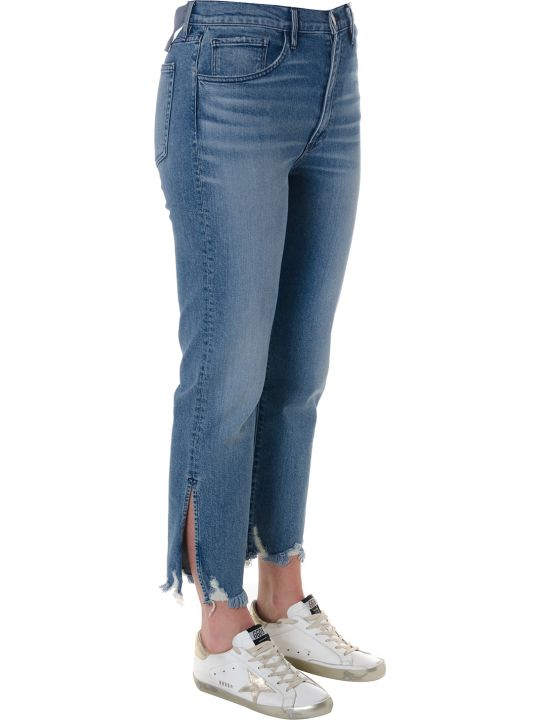 3x1 Florian Fringed Cropped Jeans In Denim