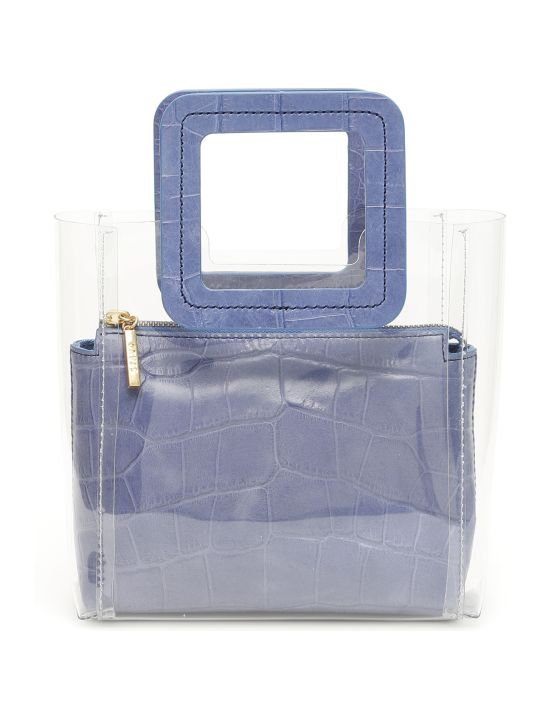 STAUD Croc Print Mini Shirley Bag