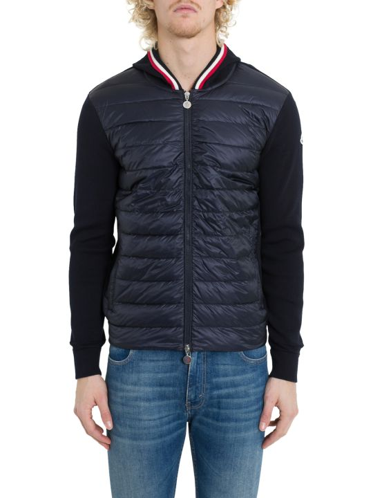 Moncler Down Jacket With Knitted Sleeve