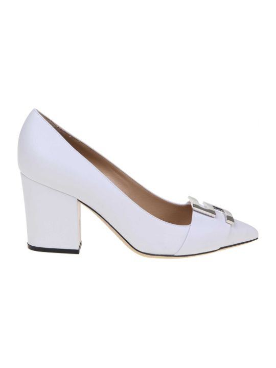 Sergio Rossi White Leather Decollete