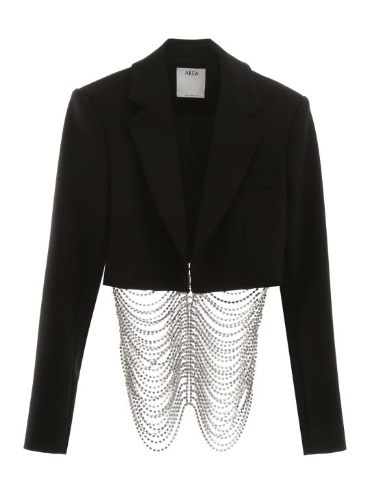 AREA Short Jacket With Rhinestones