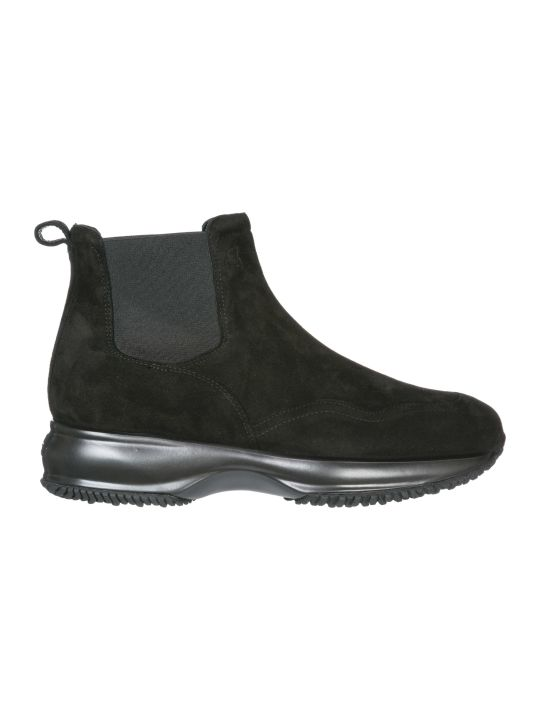 Hogan  Suede Ankle Boots Booties Interactive
