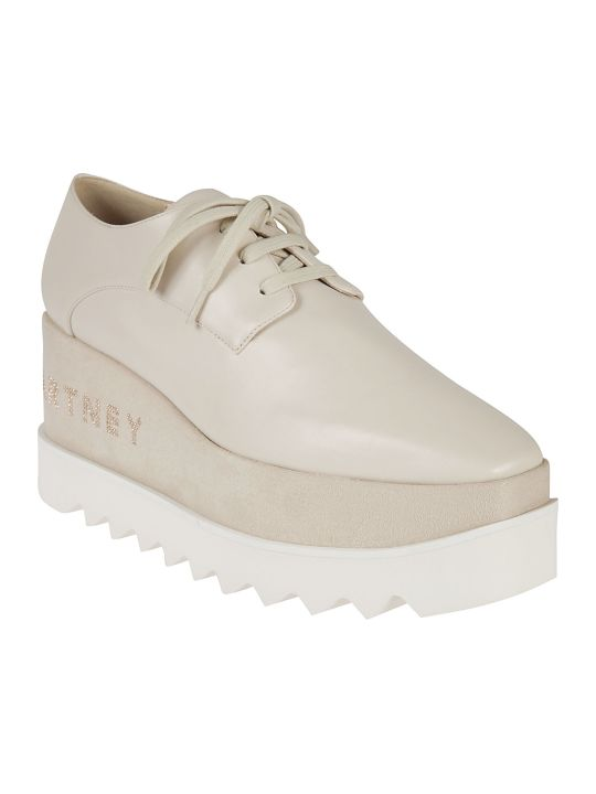 Stella McCartney Logo Wedge Oxford Shoes