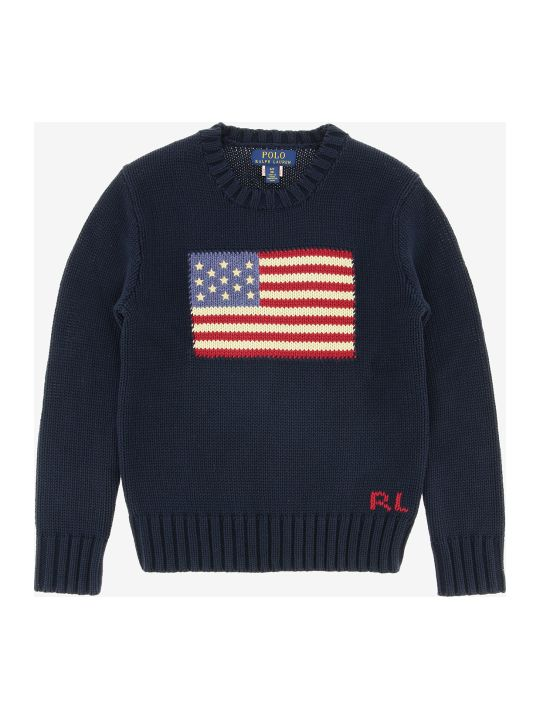 Polo Ralph Lauren Cotton Sweater With Flag