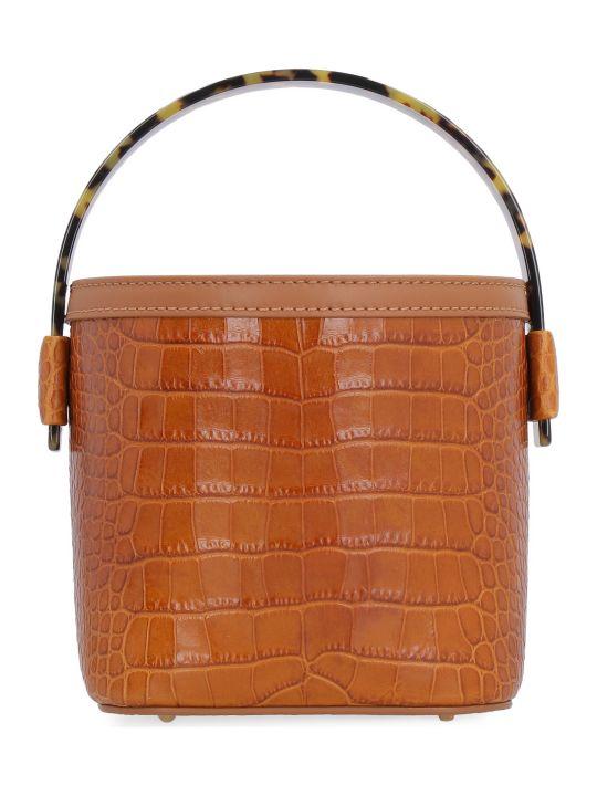 Nico Giani Adenia Crocodile Print Leather Bag