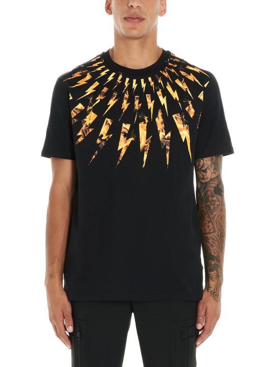 Neil Barrett 'flame Bolt' T-shirt