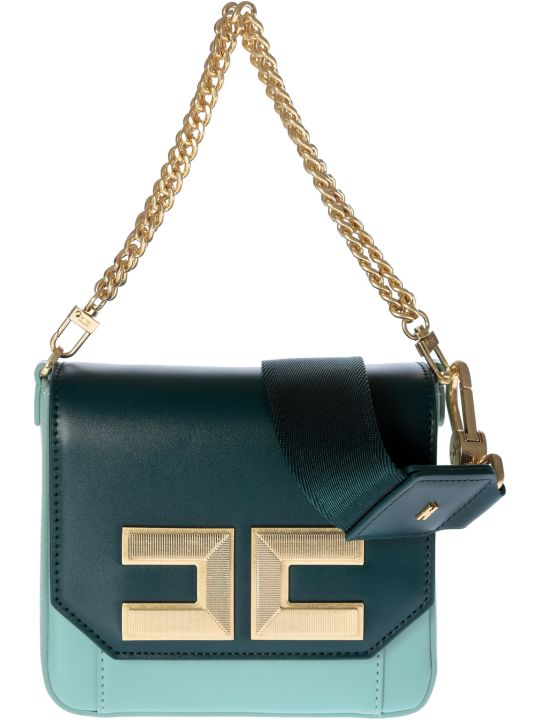 Elisabetta Franchi Celyn B. Chain Small Shoulder Bag