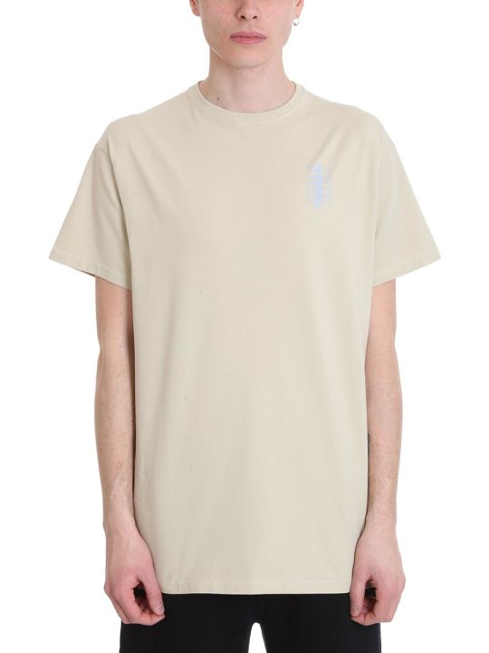 Filling Pieces Beige Cotton T-shirt