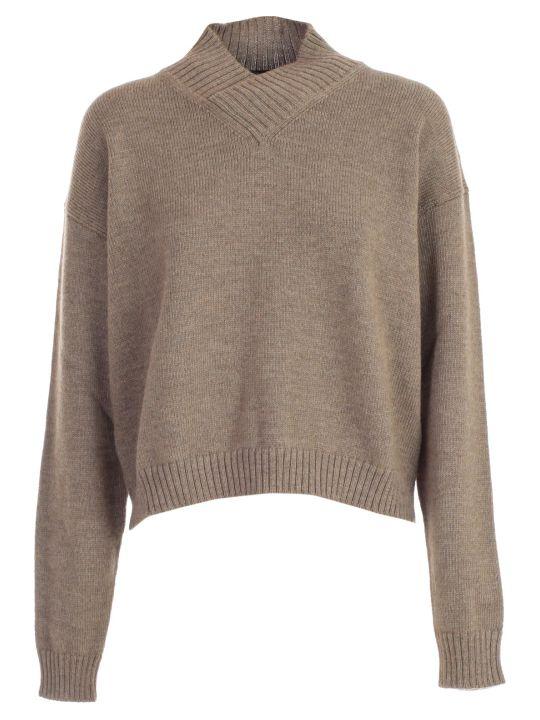 SEMICOUTURE Sweater L/s Short V Neck