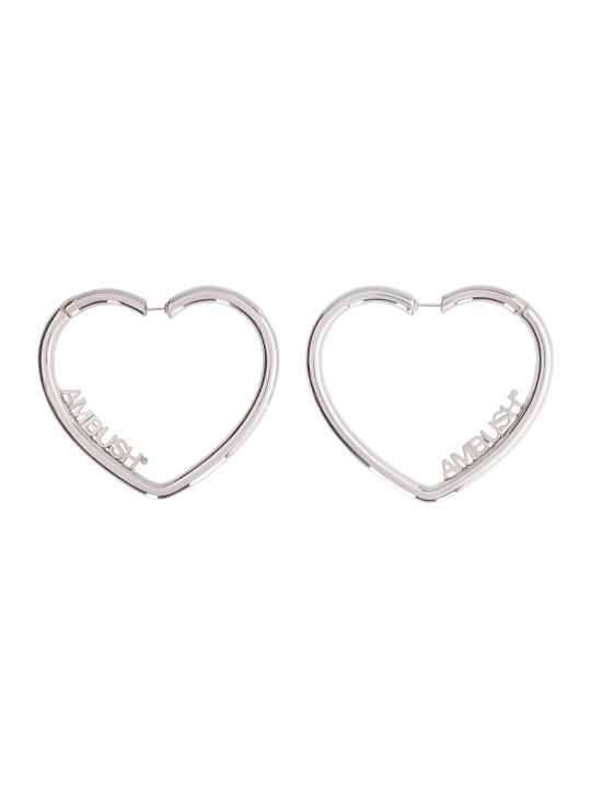 AMBUSH Heart Hoop Earrings