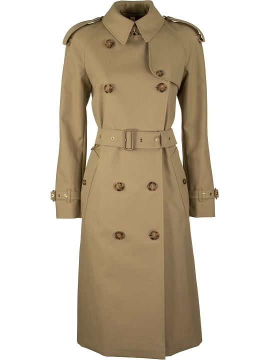 Burberry Archive Print-lined Cotton Gabardine Trench Coat