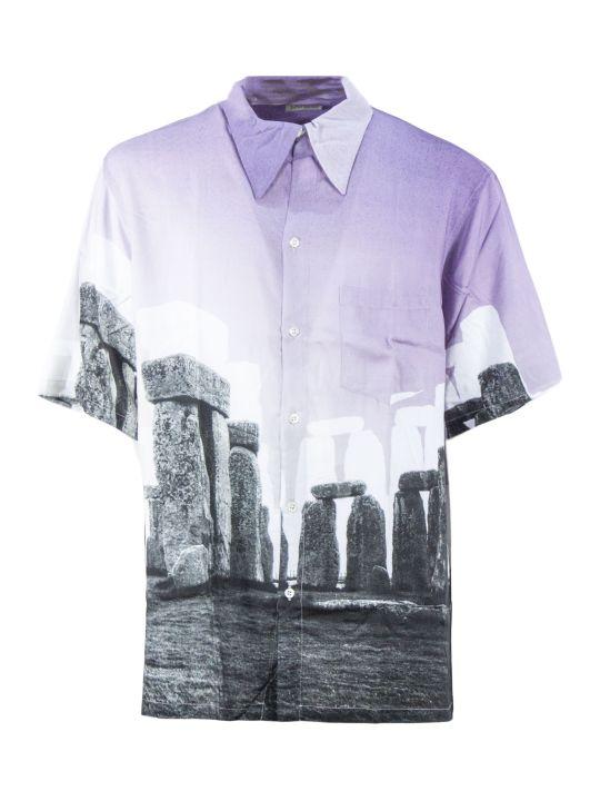 Aries Multicoloured Stonehenge Print Shirt