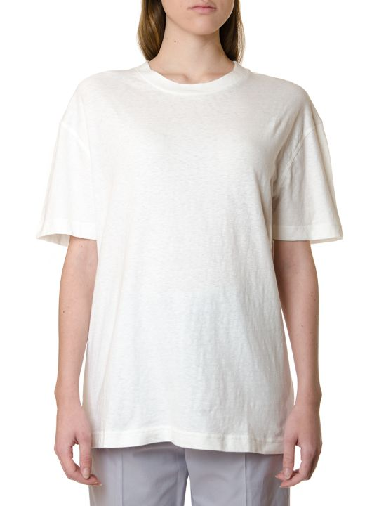 Acne Studios White Organic Cotton T-shirt With Back Logo