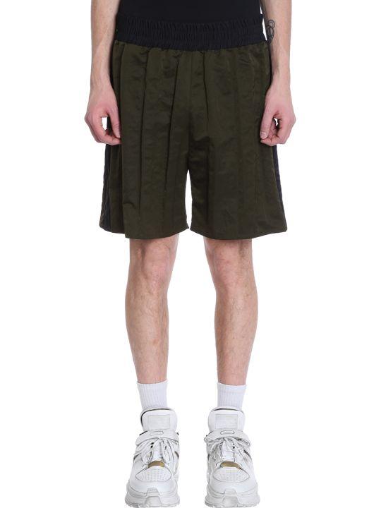 Maison Margiela Green/black Nylon Shorts