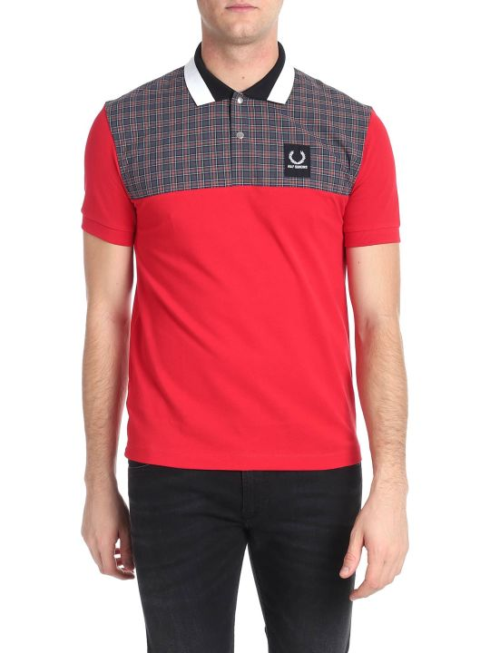 Fred Perry by Raf Simons Check Panelled Polo
