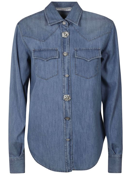 Ermanno Scervino Buttoned Denim Shirt