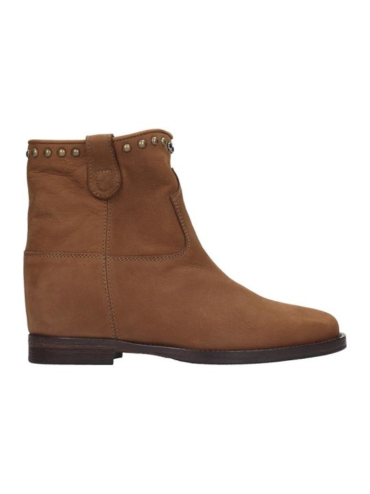 Via Roma 15 Ankle Boots In Leather Color Nubuck