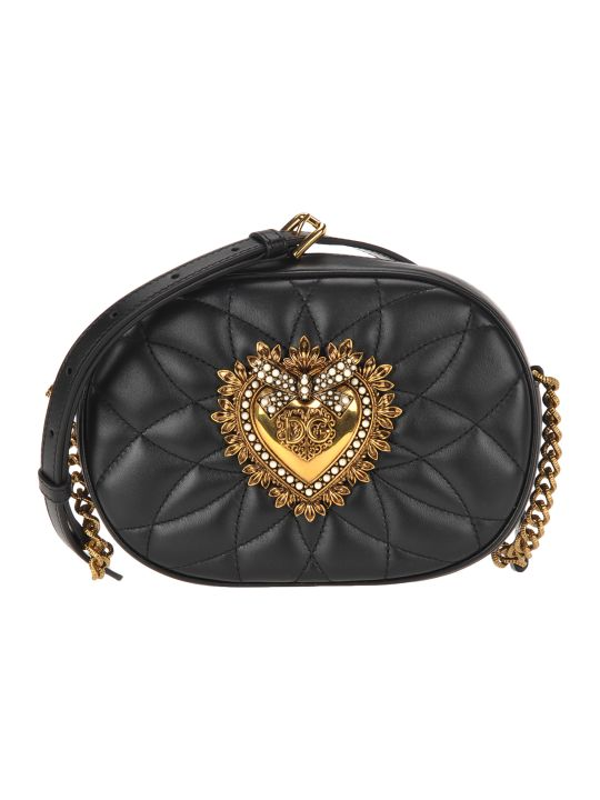 Dolce & Gabbana Dolce&gabbana Devotion Camera Bag In Quilted Nappa Leather