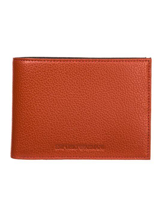 Emporio Armani  Genuine Leather Wallet Credit Card Bifold