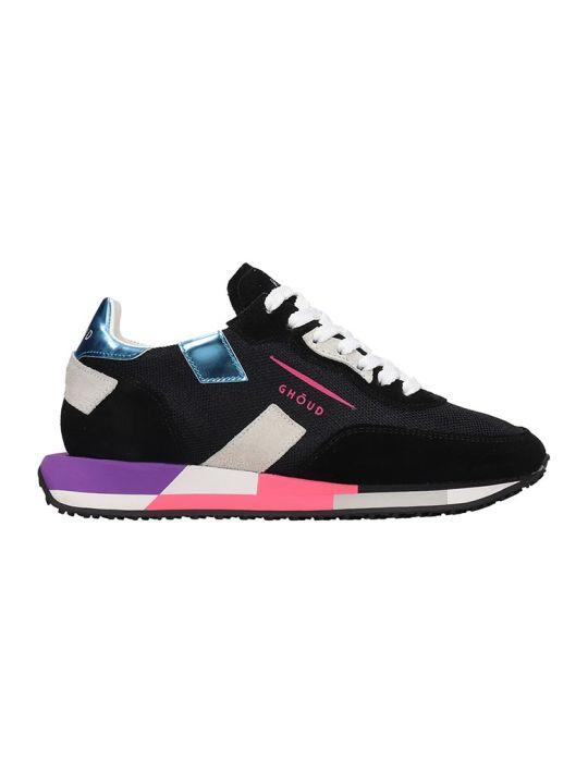 GHOUD Rush Sneakers In Black Tech/synthetic