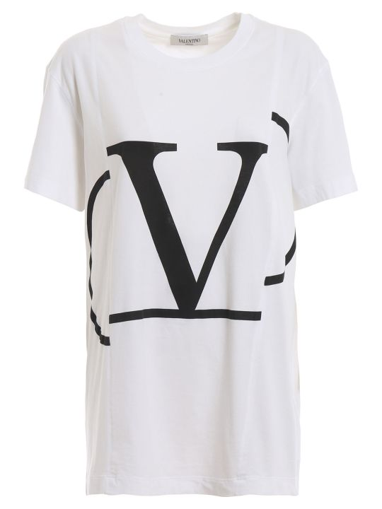 Valentino Deconstructed Go Logo T-shirt