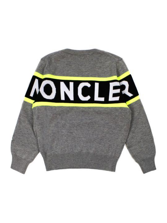 Moncler Grey Cotton Jumper
