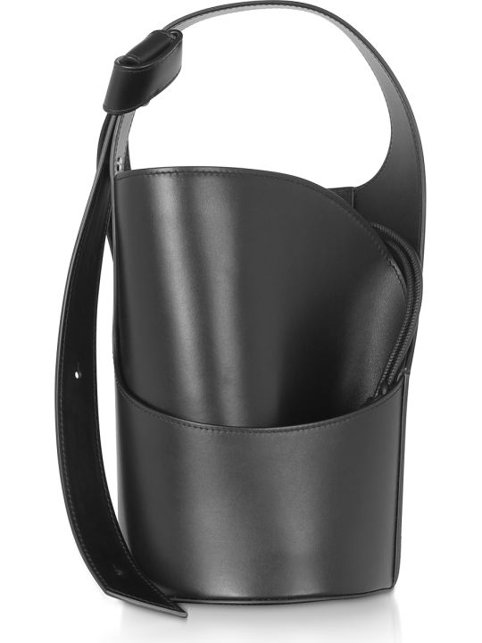 Giaquinto Lily Mini Black Bucket Bag