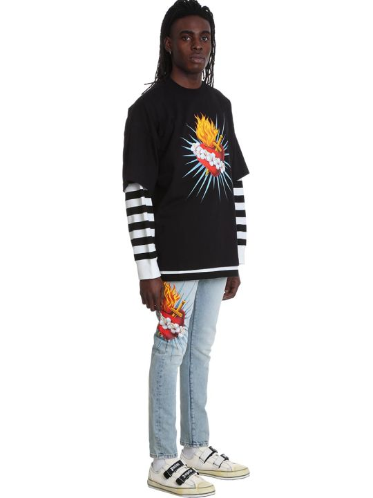 Palm Angels Sweatshirt In Black Cotton