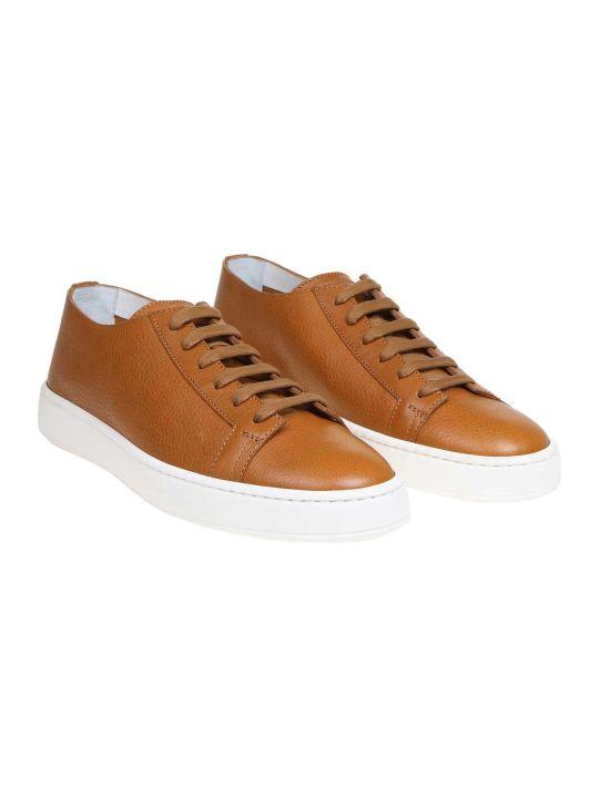Santoni Sneakers In Nappa Leather Color
