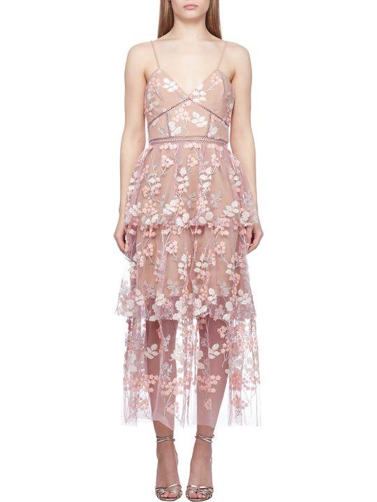 self-portrait Flower Embroidery Dress