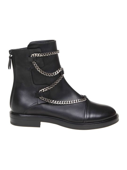 Casadei Bikers Zoe In Black Leather