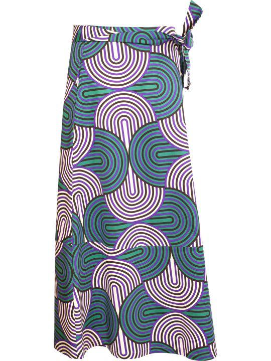 La DoubleJ Mantero Printed Midi Skirt