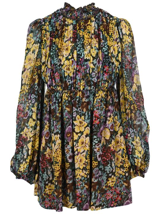 WANDERING Silk Printed Dress